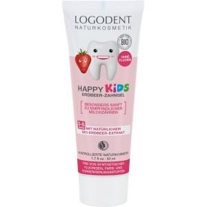 Logona, БИО-Гель зубной для детей Клубника (для молочных зубов), 50 мл