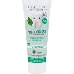 Logona, БИО-Гель зубной для детей Мятная свежесть (для молочных зубов), 50 мл