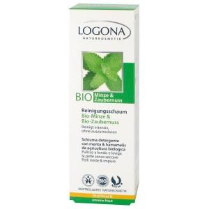 Logona, БИО-Пенка очищающая для умывания для нормальной и комбинированной кожи Мята и Гамамелис , 100 мл