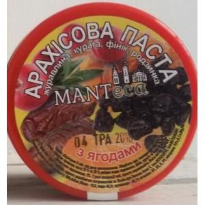 MANTECA, Натуральная арахисовая паста с ягодами, 180г