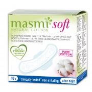 MASMI,  Натуральные прокладки SOFT ультратонкие гигиенические для сильных выделений, с крылышками, 10 шт.