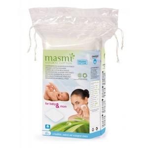 MASMI, Органические  ватные диски квадратные, 60 шт