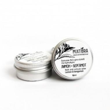 MIXTURA, 100% Натуральный Бальзам-воск для ногтей и кутикулы Лимон+Бергамот, 10г