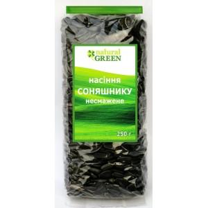NATURAL GREEN, Семена подсолнечника нежареные неочищенные, 200 г