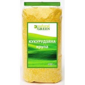 NATURAL GREEN, Крупа кукурузная, 400 г