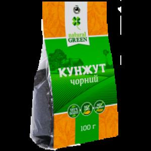 NATURAL GREEN, Кунжут чорний, 100 г