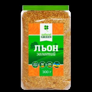 NATURAL GREEN, Насіння льону золотого, 300 г