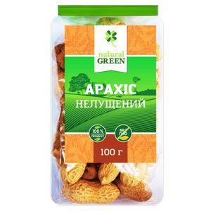 NATURAL GREEN, Арахіс неочищений, 100 г
