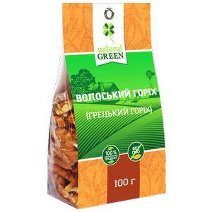 NATURAL GREEN, Грецкий орех, 100 г