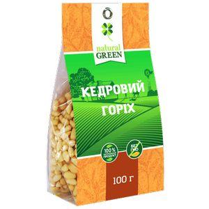 NATURAL GREEN, кедровий горіх, 100 г