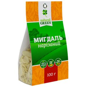 NATURAL GREEN, Мигдаль різаний, 100 г