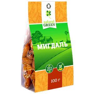 NATURAL GREEN, Мигдаль, 100 г