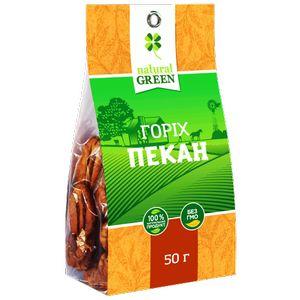 NATURAL GREEN, Горіх пекан, 50 г