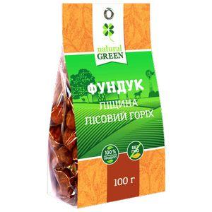 NATURAL GREEN, Фундук (ліщина, лісовий горіх), 100 г