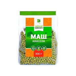 NATURAL GREEN, Квасоля Мунг (маш, золотиста), 300 гр