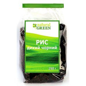 NATURAL GREEN, Рис дикий черный, 250 г
