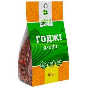 NATURAL GREEN, Ягоди годжі сушені, 100 г