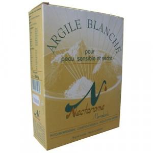 Nectarome Біла глина, маска для обличчя / Argile blanche pour peau sensible et s? Che, 300 гр