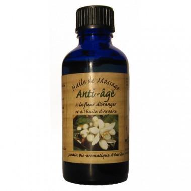 Nectarome Масло для особи проти зморшок Арганова масло (масло арганії) + ефірні масла гіркого апельсина і ладану / Huile de massage Anti-? Ge? la fleur d'oranger et? l'huile d'Argane, 50 мл