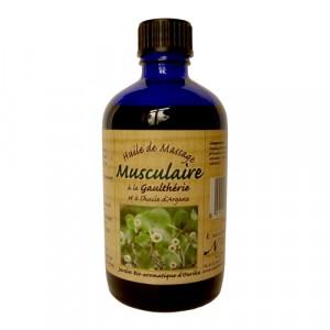 Nectarome Масло масажне для м'язів і суглобів арганія + гаултеріі / Huile de massage Musculaire a la Gaultherie et a l'huile d'Argane, 100 мл