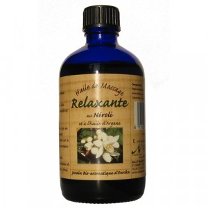 Nectarome, Масло масажне релаксуючу арганія + неролі / Huile de massage Relaxante au Neroli et a l'huile d'Argane, 100 мл