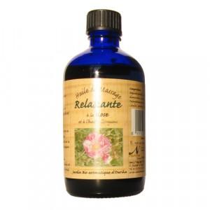 Nectarome, Масло масажне релаксуючу арганія + троянда / Huile de massage Relaxante a la Rose et a l'huile d'Argane, 100 мл