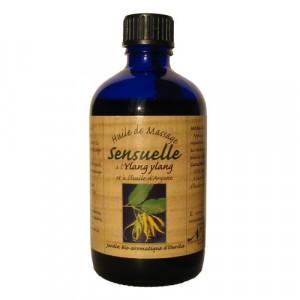 Nectarome, Масло масажне, будить чуттєвість арганія + іланг-іланг / Huile de massage Sensuelle a l'Ylang ylang et a l'huile d'Argane, 100 мл