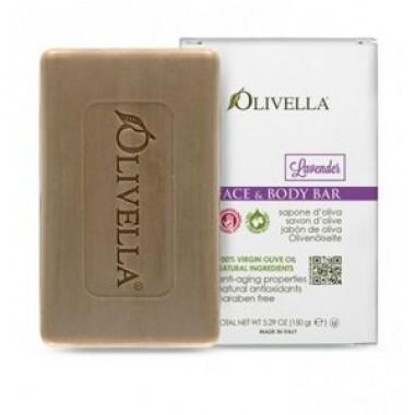 OLIVELLA, Мыло для лица и тела Лаванда на основе оливкового масла, 150г