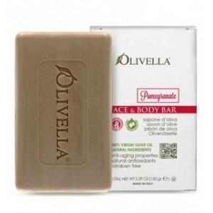 OLIVELLA, Мило для обличчя і тіла ГРАНАТ на основі оливкового масла, 150г