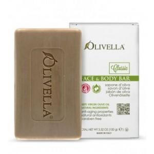 OLIVELLA, Мило для обличчя і тіла на основі оливкового масла, 100г
