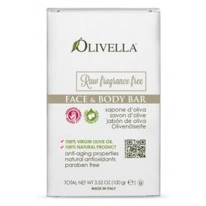 OLIVELLA, Мыло для лица и тела, для чувствительной кожи, не ароматизированное, на основе оливкового масла, 100г