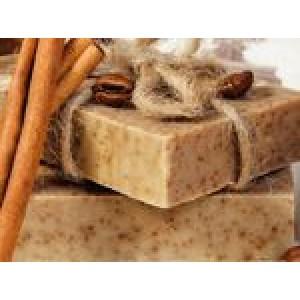 OLI, Натуральное мыло-скраб ручной работы КОФЕ-КОРИЦА, 90г