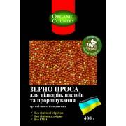 ORGANIC COUNTRY, Просо для проращивания неочищенное ОРГАНИЧЕСКОЕ, 400 гр