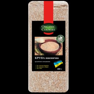 ORGANIC COUNTRY, Крупа пшеничная органическая, 400 гр
