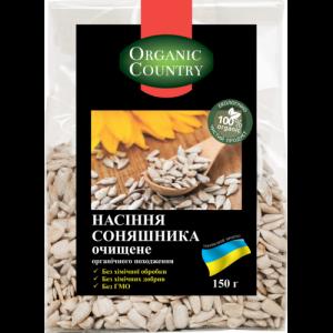 ORGANIC COUNTRY, Семечка подсолнечника очищенная органическая, Украина, 150 г