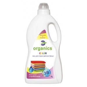 Organics COLOR Gel, Концентрированный гель для стирки цветных тканей с пробиотиком, 1000 мл = 25 стирок