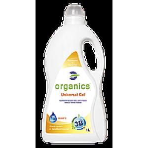 Organics Universal Gel, Пробіотичний гель-концентрат для прання будь-яких типів тканин, 1000 мол = 25 прань