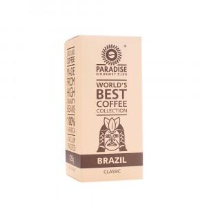 PARADISE, Натуральный молотый кофе 100% Арабика БРАЗИЛИЯ, 125г вакуумированный