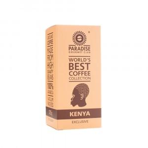 PARADISE, Натуральный молотый кофе 100% Арабика КЕНИЯ, 125г вакуумированный