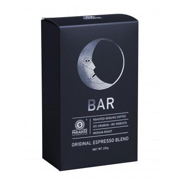 PARADISE, Натуральний міцну каву Еспрессо Бар мелений (спеціальна суміш: 20% Арабіка і 80% Рабуста), 250 г