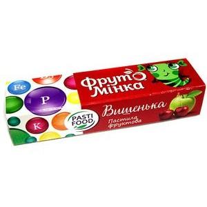 PASTIFOOD, Детская фруктовая пастила ФРУТОМИНКА без сахара ВИШЕНКА, 25г