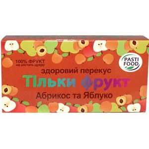 PASTIFOOD, Пастила без сахара ЯБЛОКО АБРИКОС, 50г