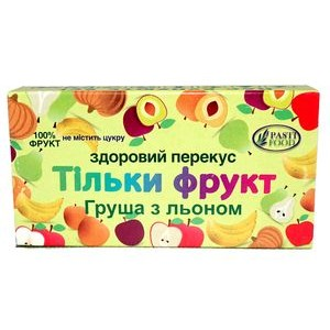 PASTIFOOD, Пастила без сахара ГРУША ЛЕН, 50г