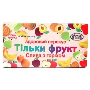 PASTIFOOD, Пастила без сахара СЛИВА ОРЕХ, 50г