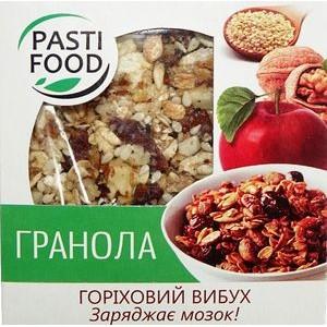 PASTIFOOD, Гранола-таблетка №4 ОРЕХОВЫЙ ВЗРЫВ, 40г