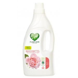 PLANET PURE, Органическое жидкое средство для стирки шерсти и шелка Дикая роза, 1.55л (31 цикл стирки)