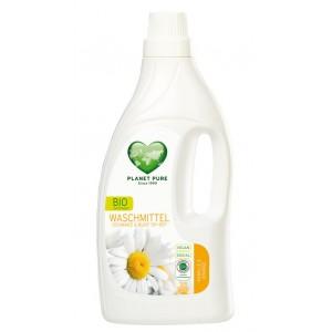 PLANET PURE, Органическое жидкое средство для стирки темного и цветного белья Ромашка и апельсин, 1.55л (38 циклов стирки)