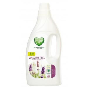 PLANET PURE, Органическое жидкое средство для стирки универсальное Свежая лаванда, 1.55л (38 циклов стирки)