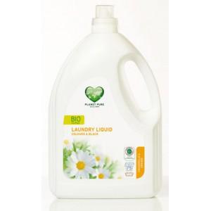 PLANET PURE, Органическое жидкое средство для стирки темного и цветного белья Ромашка и апельсин, 3000мл (75 циклов стирки)