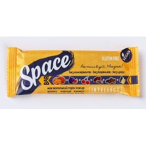 SPACE BAR, Натуральный батончик Intellect, 45г